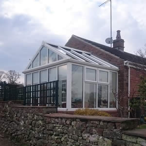 Glass roof conservatory Cumbria