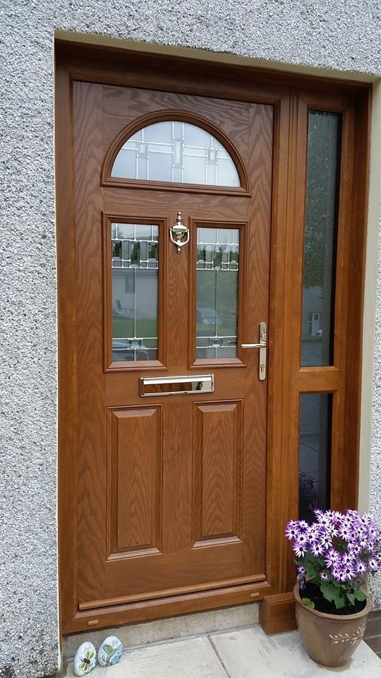 Oak Composite door - Chilton 3 - Bienno glazing & S/P