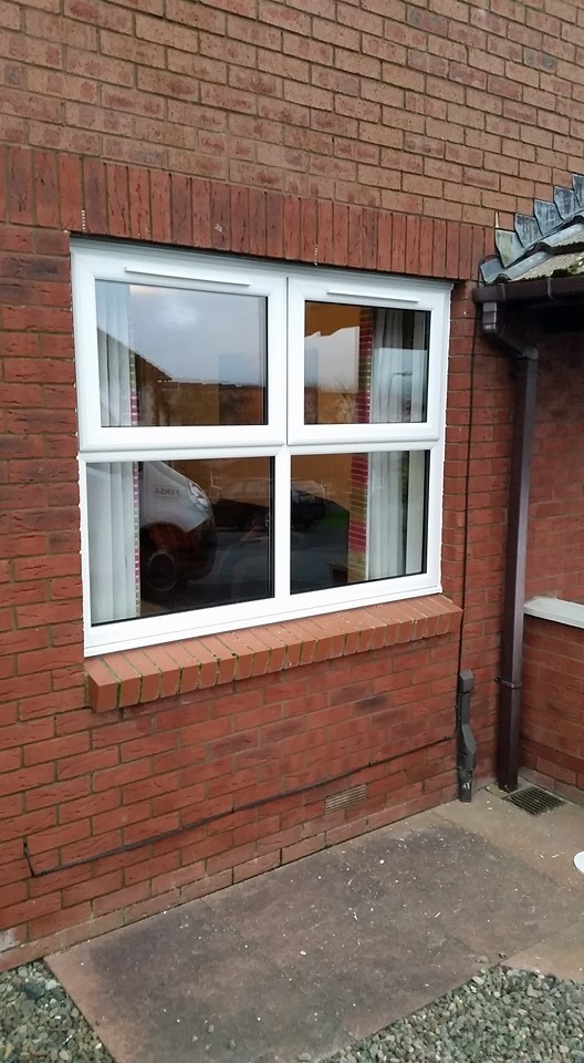 White PVC double top opener window